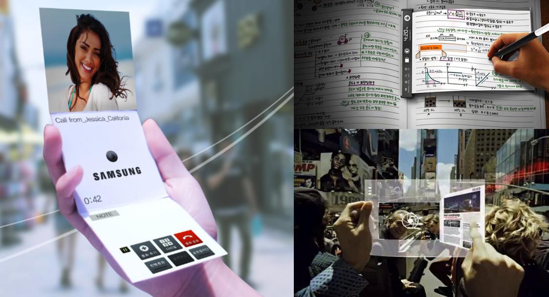Samsung- dispozitive cu ecran flexibil - ilovesamsung.ro