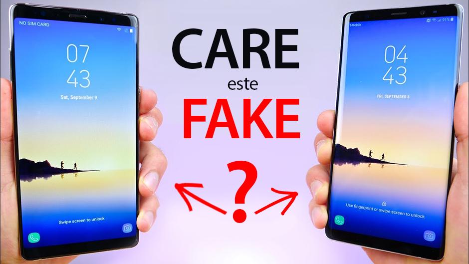 Cum să depistezi un Galaxy Note 8 contrafăcut