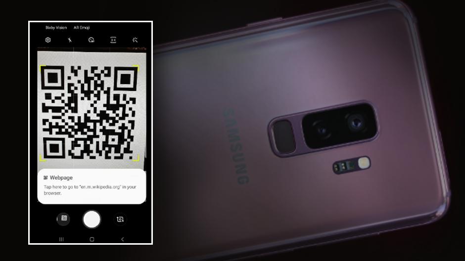 Camera lui Galaxy S9 poate scana acum coduri QR fără Bixby Vision