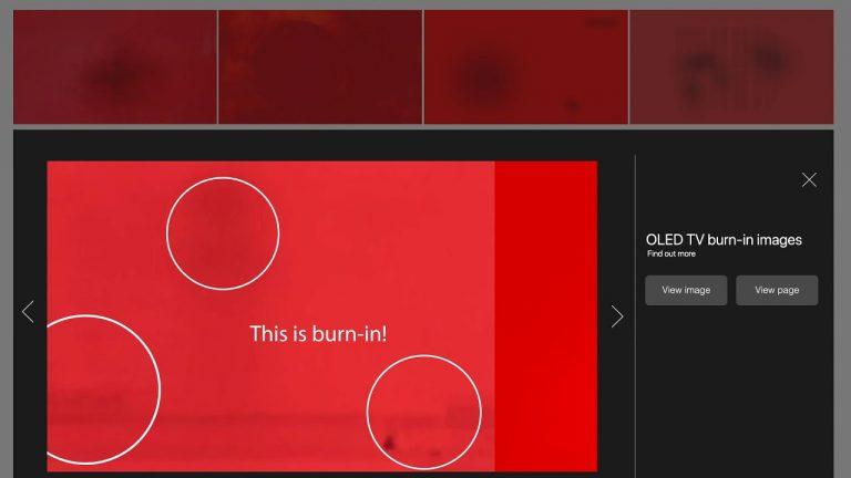 Videoclip Samsung pentru a verifica dacă televizorul are burn-in
