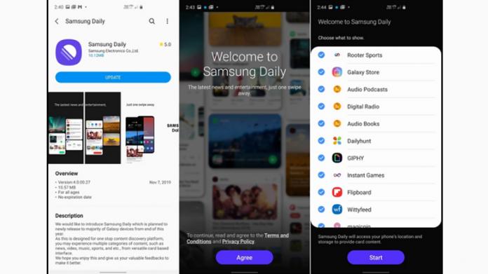 Samsung Daily înlocuiește Bixby Home pe Galaxy S10 (Android 10 Beta)