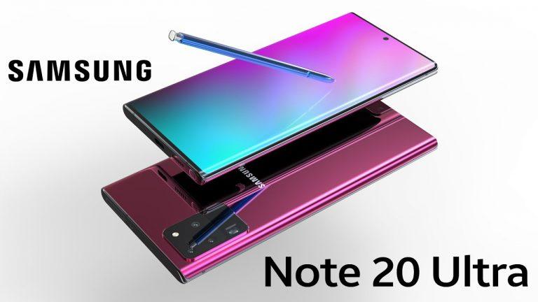 Samsung Galaxy Note 20+ într-un videoclip redat în 3D