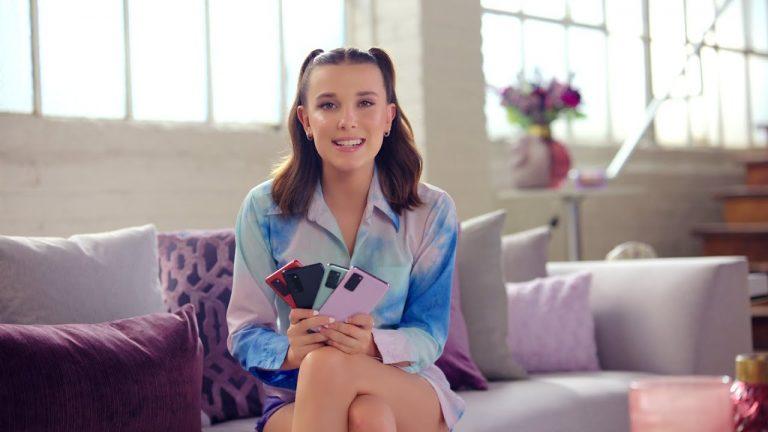 Millie Bobby Brown și BTS promovează noul Samsung Galaxy S20 FE