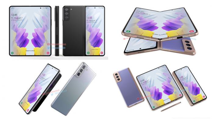 Concept Galaxy Z Fold 3 are design familiar si stilou S Pen