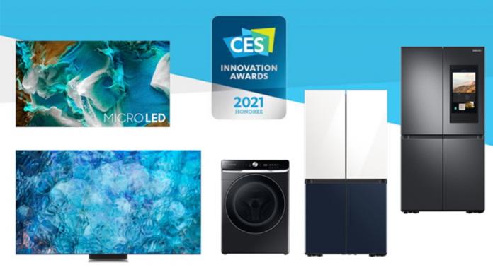 Produsele Samsung castigatoare a premiilor CES 2021