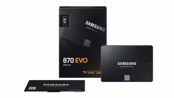 Samsung SSD 870 Evo lansat viteze mai mari si preturi mai mici