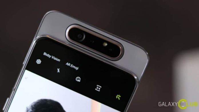 Samsung lucreaza la Galaxy A82 5G un nou telefon cu un modul rotativ