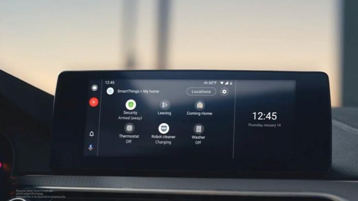 SmartThings de la Samsung este acum integrat cu Android Auto