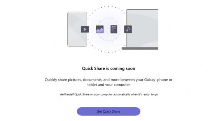 Aplicatia Samsung Quick Share ajunge pe Windows 10