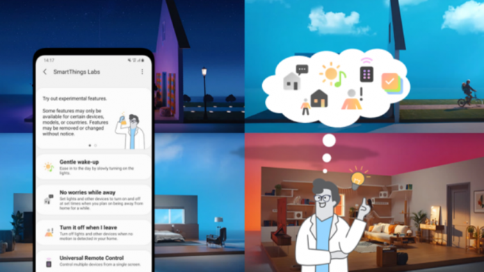 Puteti testa mai multe functii in aplicatia Samsung SmartThings