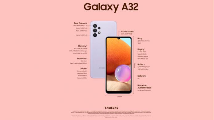 Samsung Galaxy A32 are acum o optiune 4G modificari fata de varianta 5G