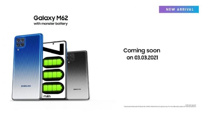 Samsung Galaxy M62 un Galaxy F62 renumit va fi lansat in mai multe tari