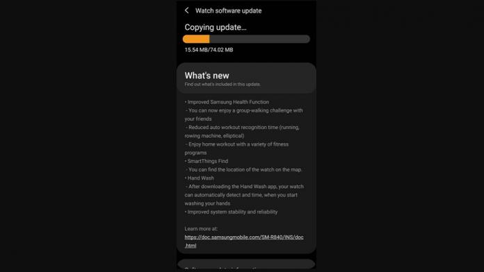 Samsung Galaxy Watch 3 actualizat cu noi functii