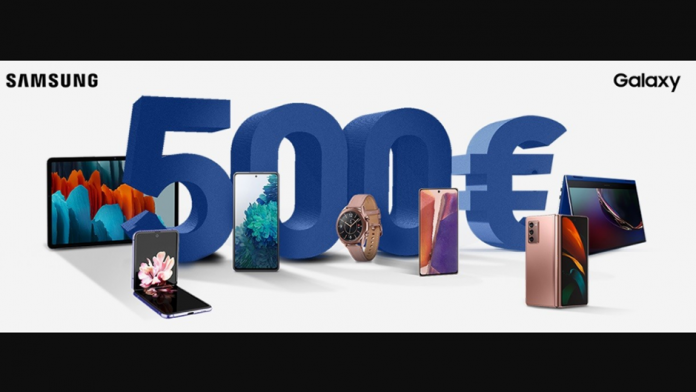 Samsung up to 500 euros of cashback on Galaxy products