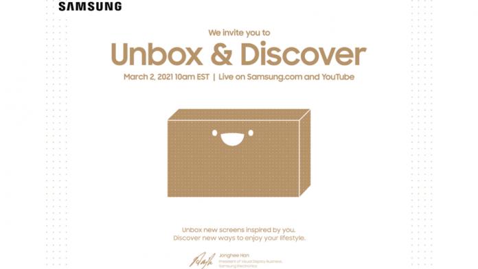 Samsung va organiza evenimentul de lansare TV Unbox & Discover
