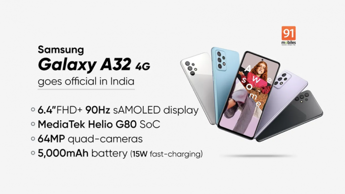 Samsung Galaxy A32 4G cu afisaj AMOLED de 90Hz lansat in India