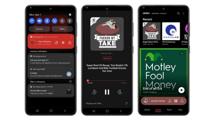 Samsung a adaugat un player podcast la telefoanele sale