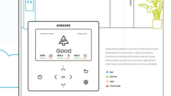 Samsung lanseaza un nou panou pentru purificarea aerului