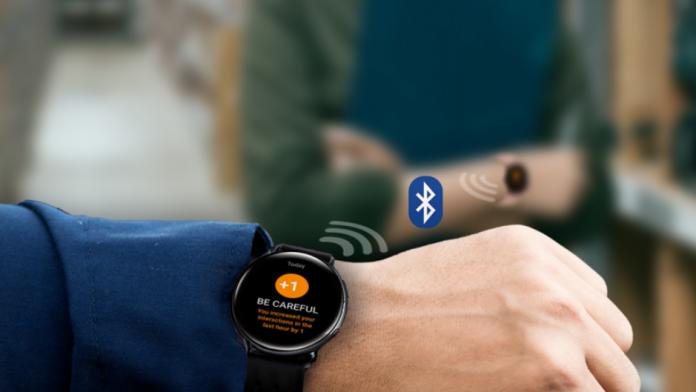 Samsung si Radiant dezvolta o solutie de distantare sociala cu Galaxy Watch