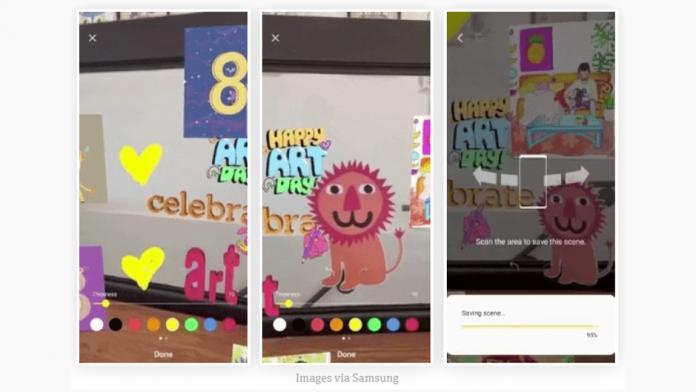 AR Canavas aplicatie Samsung pentru smartphone Galaxy