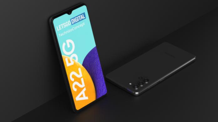 Samsung Galaxy A22 5G un nou smartphone 5G ieftin in pregatire
