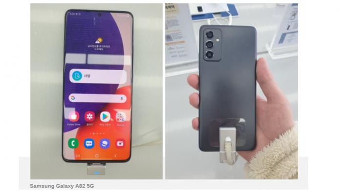 Samsung Galaxy A82 primele imagini dezvaluie un design familiar
