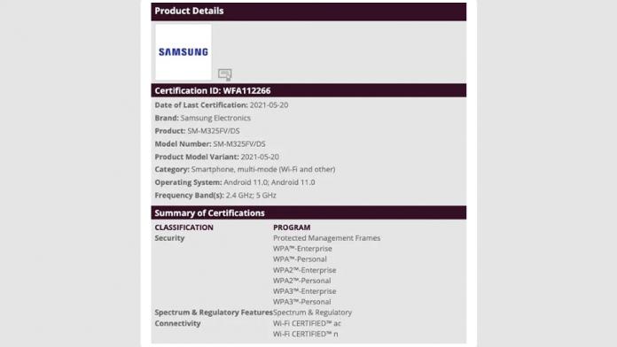 Galaxy M32 inainte de lansare primeste certificarea WiFi Alliance