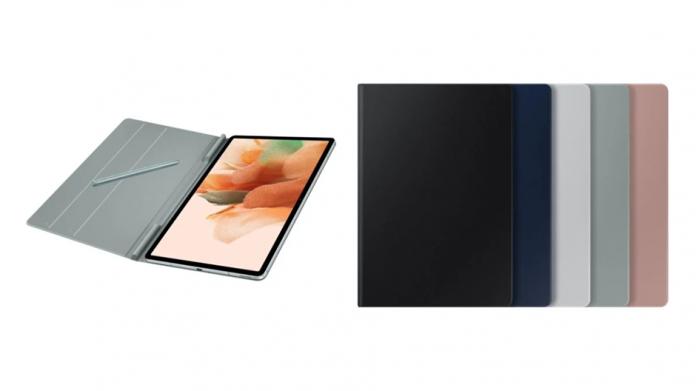 Samsung Galaxy Tab S7 FE cu husa Cover Book si tastatura optionala