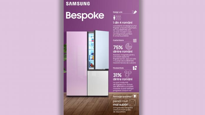 Samsung a lansat in Romania gama de frigidere Bespoke