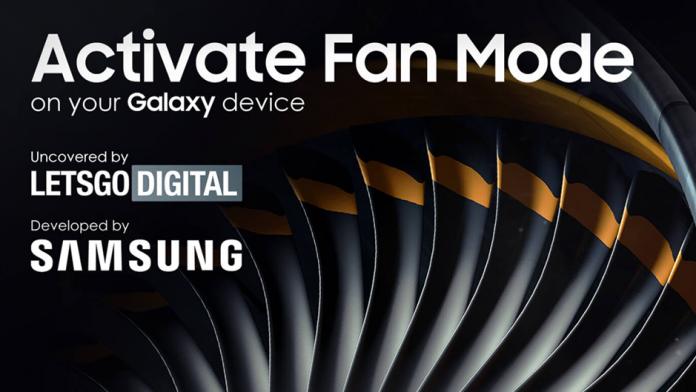 Smartphone Samsung Galaxy primesc Activate Fan Mode