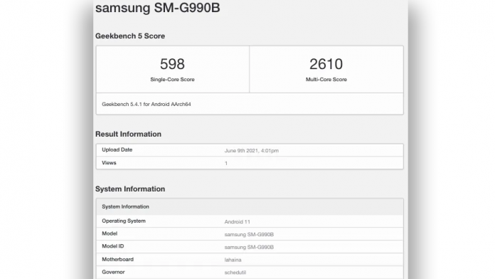 Samsung Galaxy S21 FE cu 8GB de RAM reperat pe Geekbench