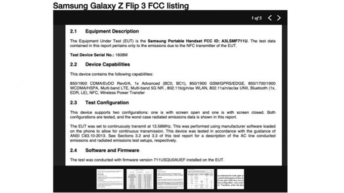 Samsung Galaxy Z Flip 3 5G cu incarcare wireless a fost certificat de FCC