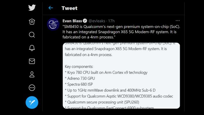 Specificatiile procesorului SM8450 succesorul Snapdragon 888 SoC