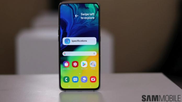 Actualizarea de securitate din iulie 2021 lansata pentru Galaxy A80