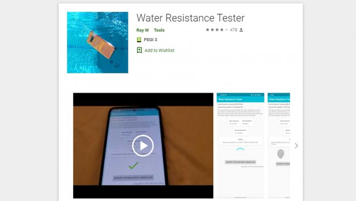 Aplicatie va spune daca smartphone Galaxy este rezistent la apa