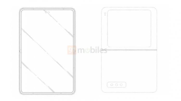 Brevet de telefon Samsung Flip cu ecran exterior mare și dual-camera selfie