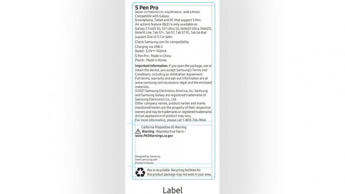 Compatibilitatea Galaxy Z Fold 3 cu S Pen Pro a fost confirmata de FCC