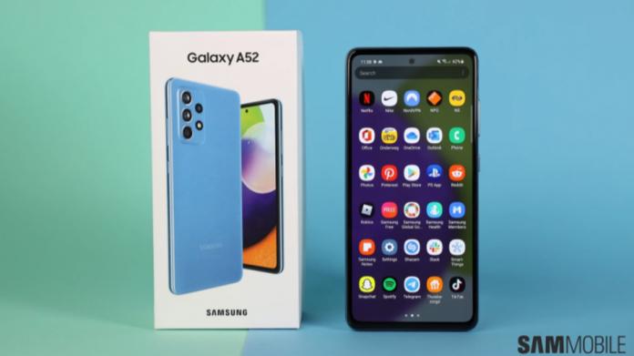 Galaxy A52 este primul telefon Samsung care primește patch-ul din august 2021