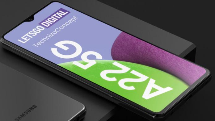 Galaxy Buddy posibil un Galaxy A22 5G redenumit bervetat de Samsung