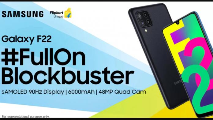 Samsung Galaxy F22 cu ecran de 6 inch si baterie de 6000mAh lansat