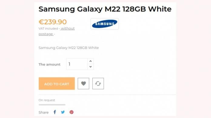 Samsung Galaxy M22 aproape de lansare a fost certificat de FCC