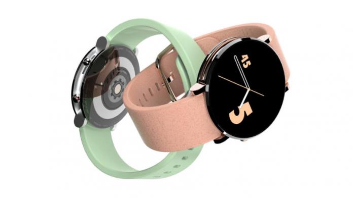 Samsung Galaxy Watch 5 cu butoane rotunde si un glisor