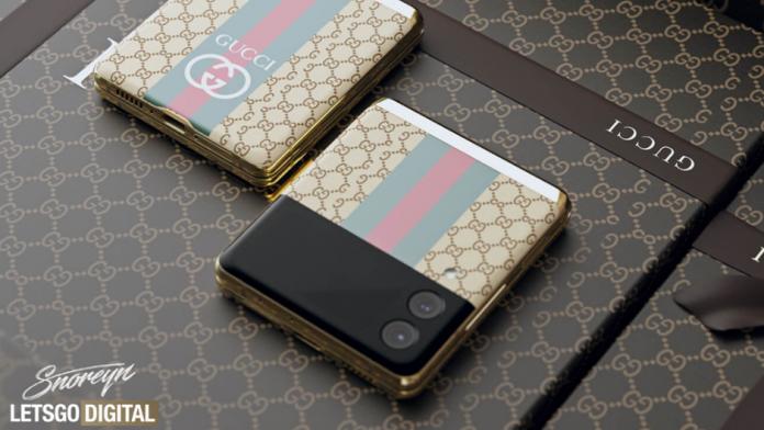 Samsung Galaxy Z Flip 3 Gucci Fashion Luxury Edition