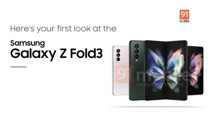 Samsung Galaxy Z Fold 3 in trei optiuni de culoare