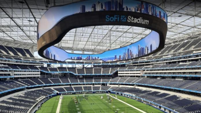 Samsung The Infinity Screen numele ecranului instalat in SoFi Stadium