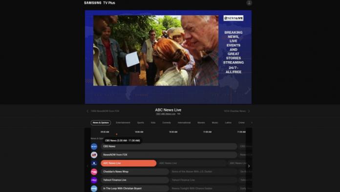 Serviciul de streaming video Samsung TV Plus extins in liniste pe web