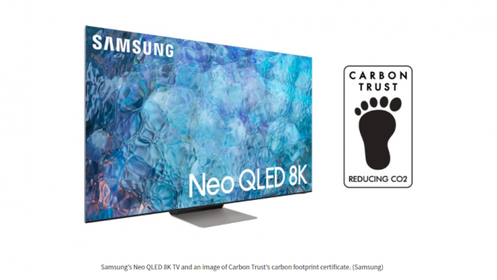 Certificarea Carbon Trust pentru televizoarele Samsung Neo QLED
