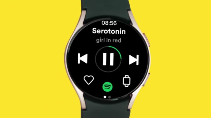 Cu Wear OS pe Galaxy Watch 4 puteti asculta offline Spotify