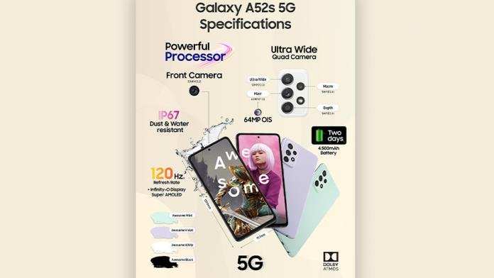 Samsung Galaxy A52s 5G ofera functii de divertisment la o valoare excelenta
