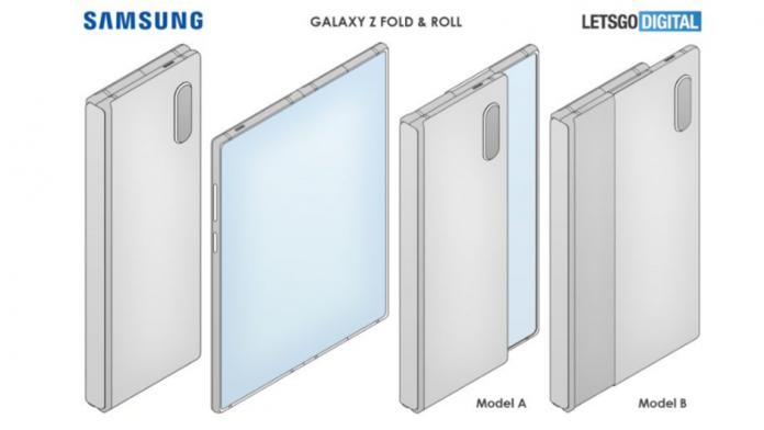Samsung Galaxy Z Fold Galaxy Roll cu afisaj rulabil